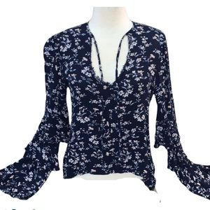 Skylar Madison Boho Romantic Floral Top Like New